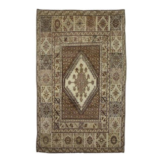 Vintage Rabat Moroccan Medallion Rug With Anatolian Style - 6'11 X 11'2 For Sale