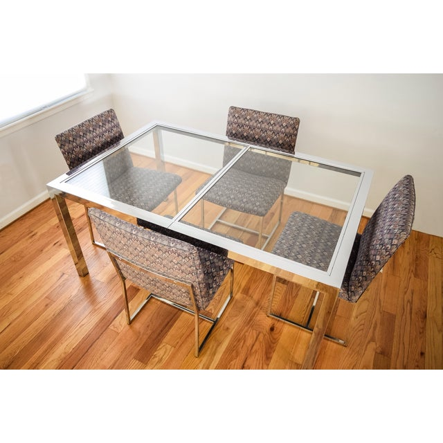 Mid-Century Dia Milo Baughman Dining Set For Sale In Detroit - Image 6 of 11
