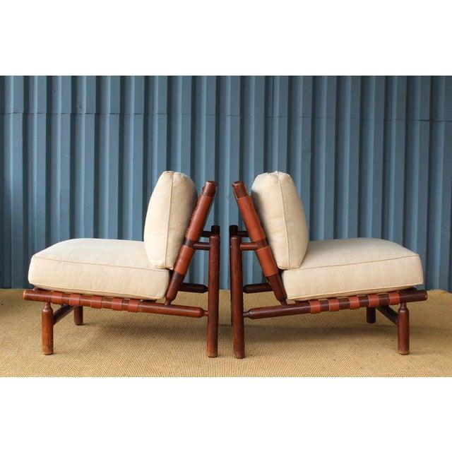 Ilmari Tapiovaara Ilmari Tapiovaara Walnut Lounge Chairs, Italy, 1957 - a Pair For Sale - Image 4 of 11