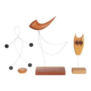 Danish Modern Kinetic Sculptures - Set of 3 For Sale