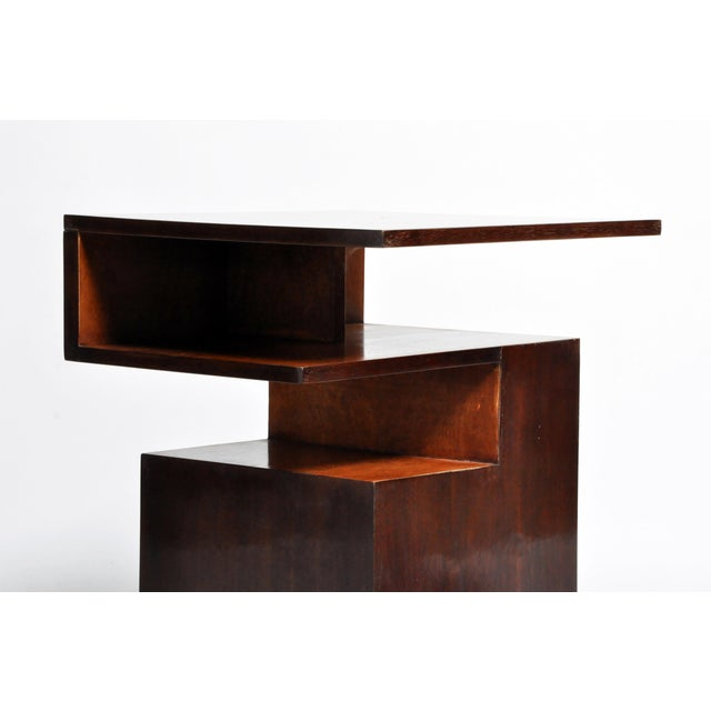 Wood Hungarian Walnut and Maple Veneer Side Table With Shelves For Sale - Image 7 of 13