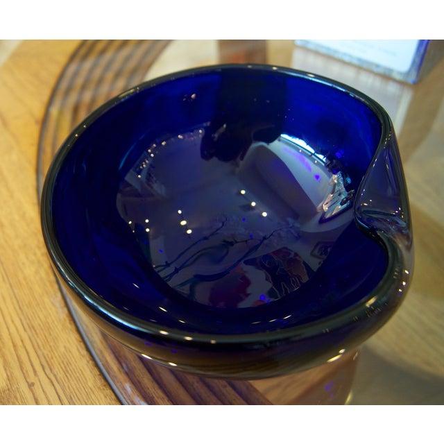 Blue Elsa Peretti for Tiffany & Co. Thumbprint Bowl For Sale - Image 8 of 10