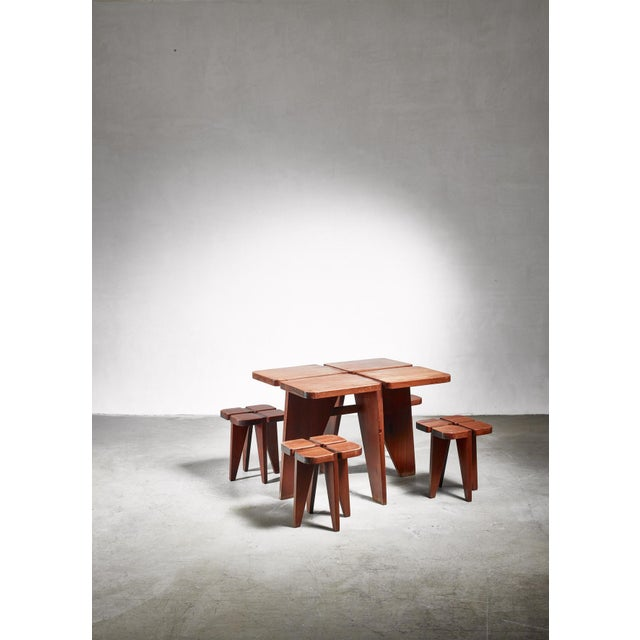 Mid-Century Modern Lisa Johansson-Pape Table and Stools for Stockman, 1950s For Sale - Image 3 of 5