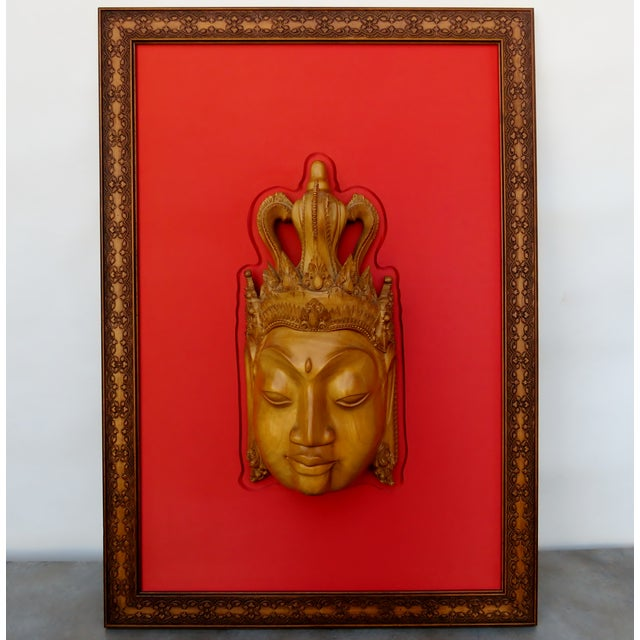 Thai Mounted Buddha Wood Carving For Sale - Image 10 of 10