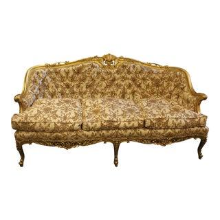 1950s Vintage Hollywood Regency Sofa For Sale