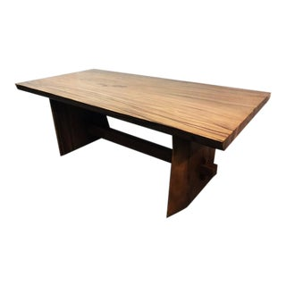 Single Slab Teak Suar Dining Table