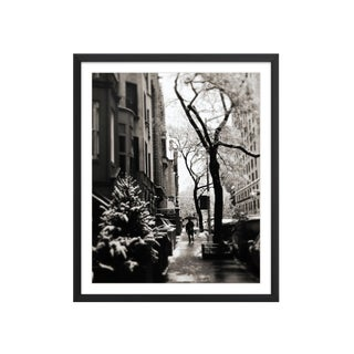 New York City in Winter Snow Framed Fine Art Photograph For Sale