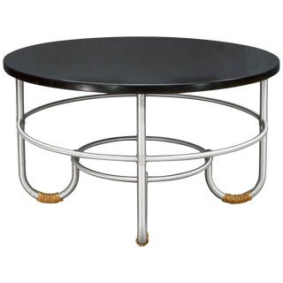1930s Nyc Art Deco Warren McArthur Machine Age J-Leg Coffee Table Mid-Century For Sale
