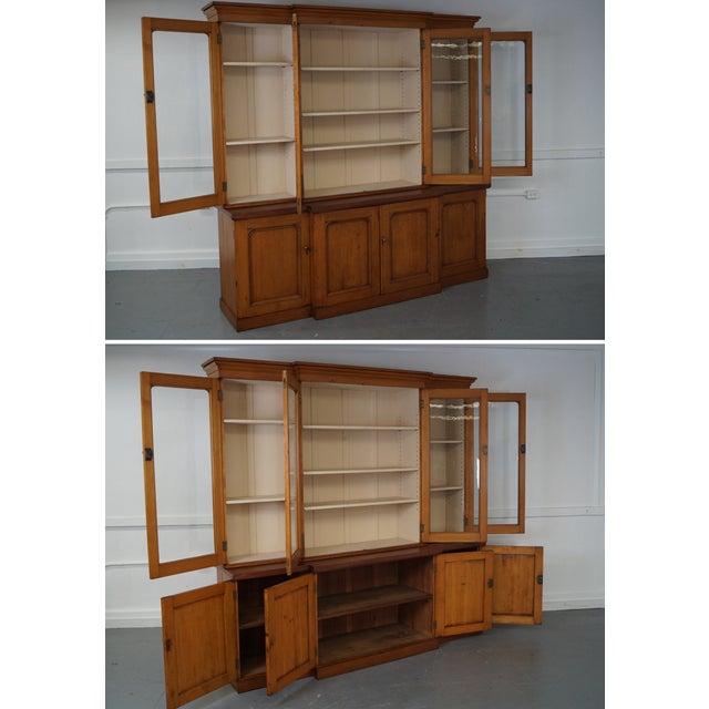 Antique 19th Century Pine Monumental Bookcase - Image 5 of 10