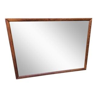 Henredon Heritage Mid Century Walnut Mirror For Sale