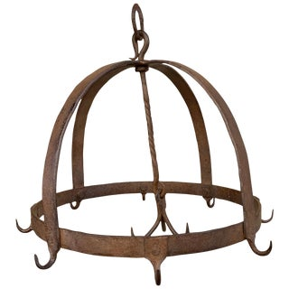 18th Century French Iron Game Rack For Sale