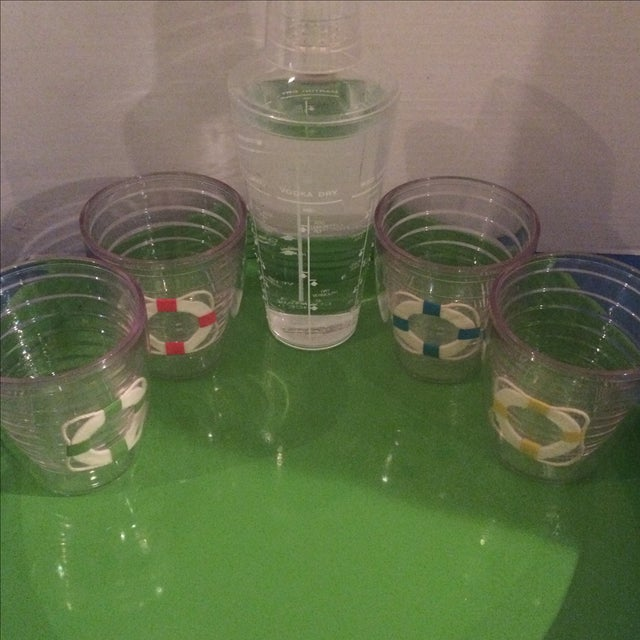 Vintage Tervis Tumbler Set With Shaker & Tray - Image 3 of 9