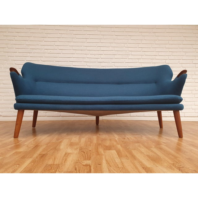 "1960s Vintage Danish Design by Kurt Olsen, ""Banana"" Sofa For Sale - Image 13 of 13"
