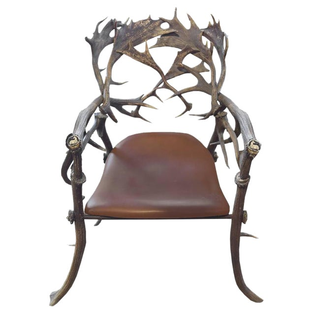 19th Century Bavarian Hunting Lodge Armchair - Image 1 of 1