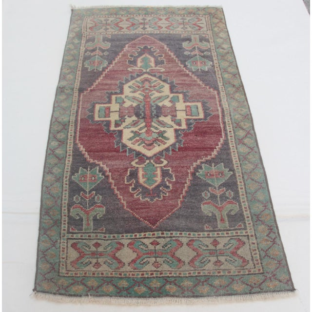 This is a beautiful pastel color handmade Turkish rug. It is from Konya city. The age of this sweet carpet is...