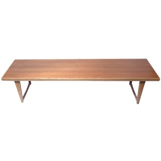 Mid-Century Modern Long Teak Coffee Table For Sale