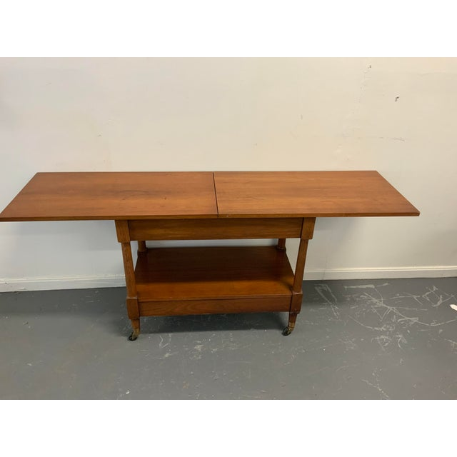 1960s Traditional Henredon Serving Cart For Sale - Image 5 of 9