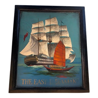 Old English Nautical Pub Sign Double-Sided For Sale