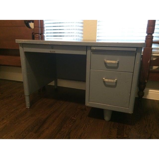 Vintage Blue McDowell & Craig Tanker Desk - Image 3 of 6