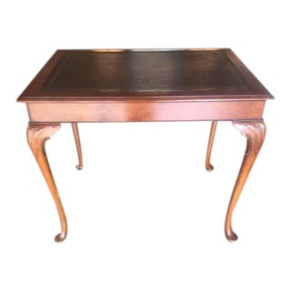 Queen Anne Style English Game Table For Sale