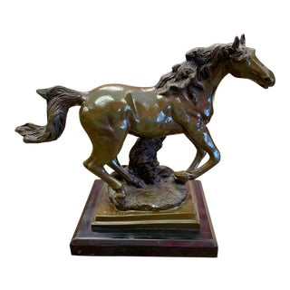 Mid 20th Century J P Mene Bronze Horse For Sale
