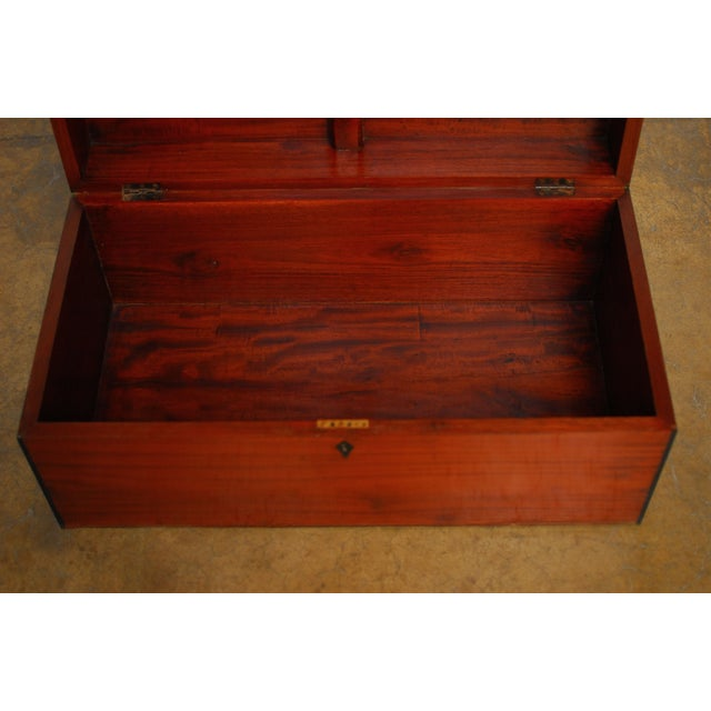 Teak Anglo- Indian Teak Treasure Chest For Sale - Image 7 of 7