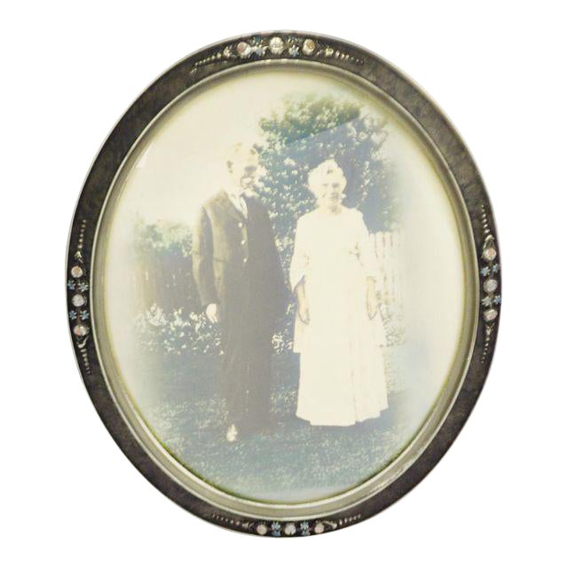 Early Gesso Wood Convex Glass Frame Chairish