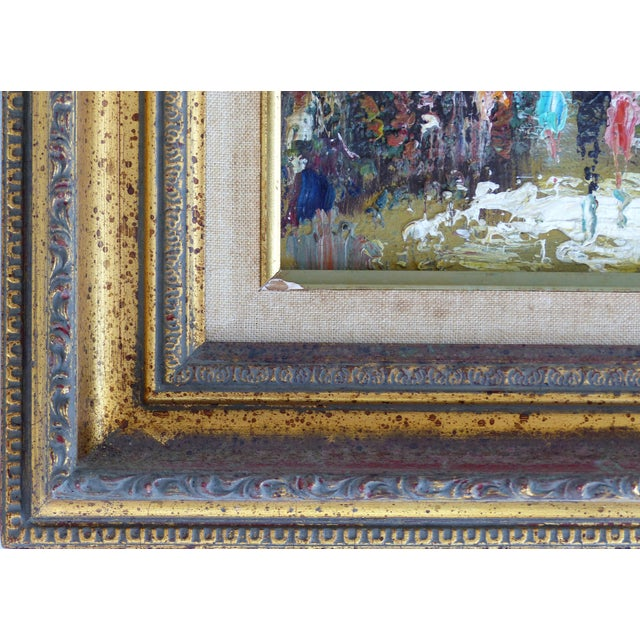 Midcentury Modern Paris Street Scene Oil Paintings- a Pair For Sale - Image 4 of 13