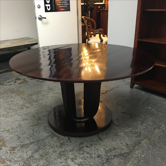Barbara Barry Round Fluted Dining Table - Image 3 of 9