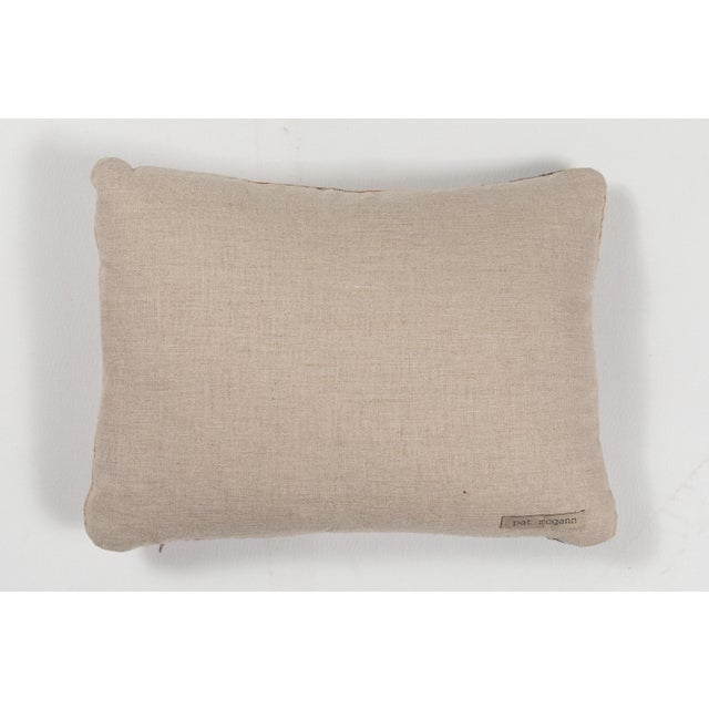 Indian Handwoven Pillow in Pastel Stripes Design For Sale - Image 4 of 6