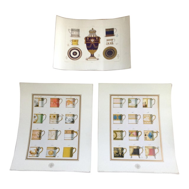 Sevres Tea Cup Museum Prints - Set of 3 For Sale