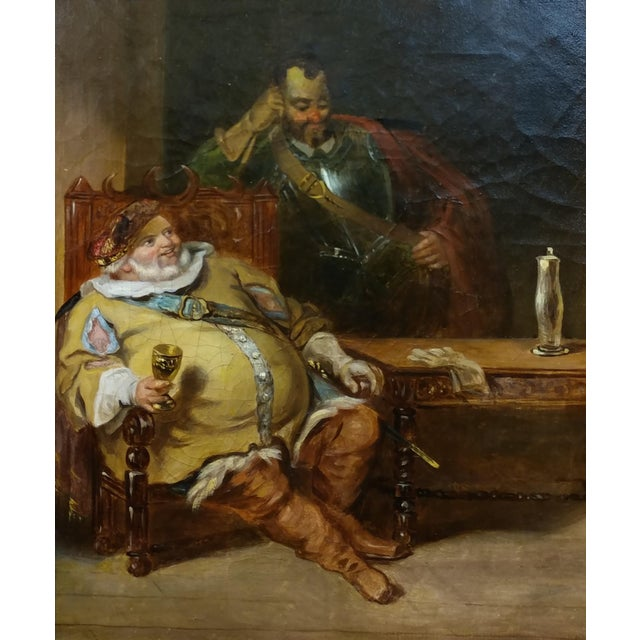 18th century Dutch Oil Painting -Interior scene of Two Nobles Drinking For Sale - Image 4 of 10
