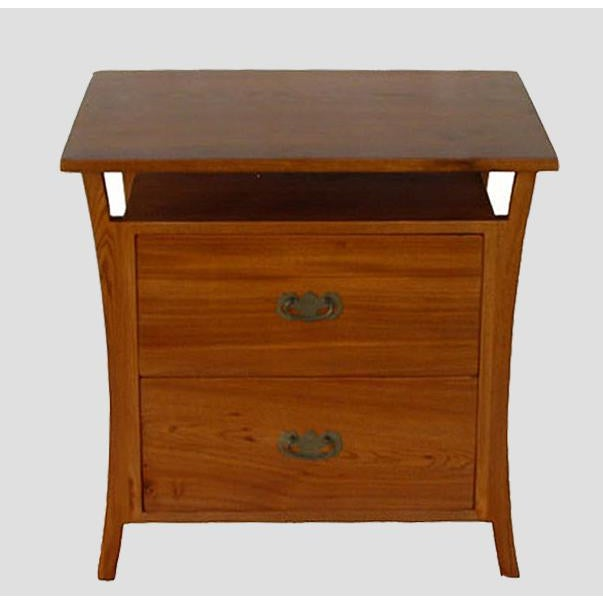 With warm natural color, this Asian style nightstand gives a sense of calm and simple elegancy. It is made of reclaimed...