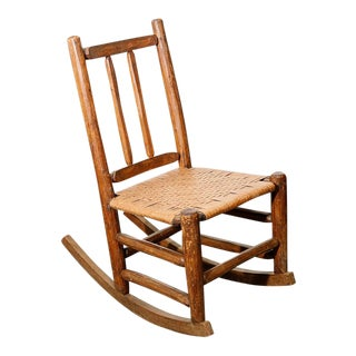 Primitive Early American Rocking Chair For Sale