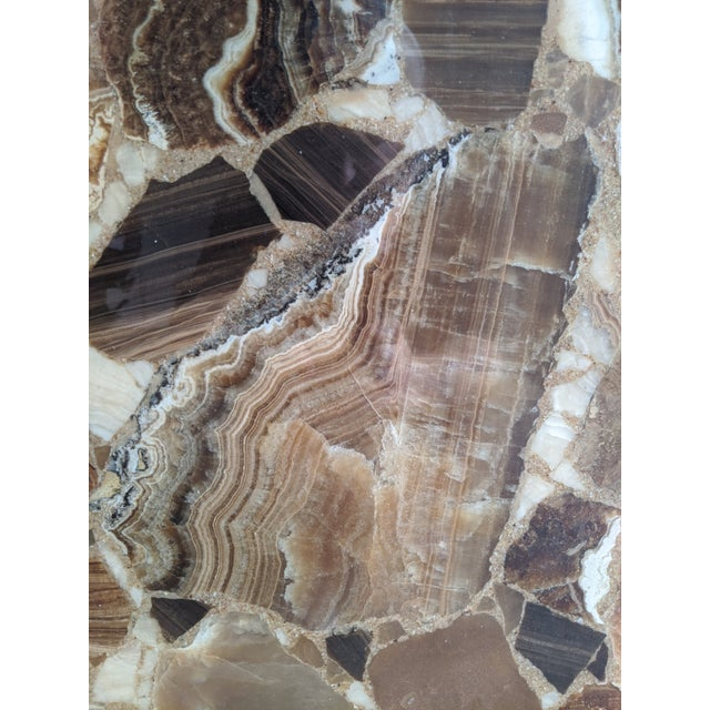 Arturo Pani for Muller of Mexico Onyx Stone Pedestal For Sale - Image 9 of 13