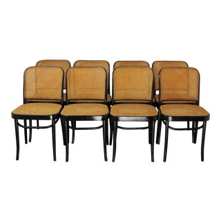 Vintage Prague Chairs - Set of 8 For Sale