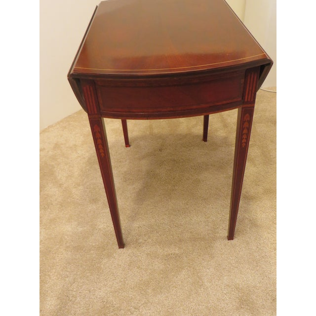 Mahogany Early 20th Century Antique Baker Furniture Drop Leaf Pembroke Table For Sale - Image 7 of 13