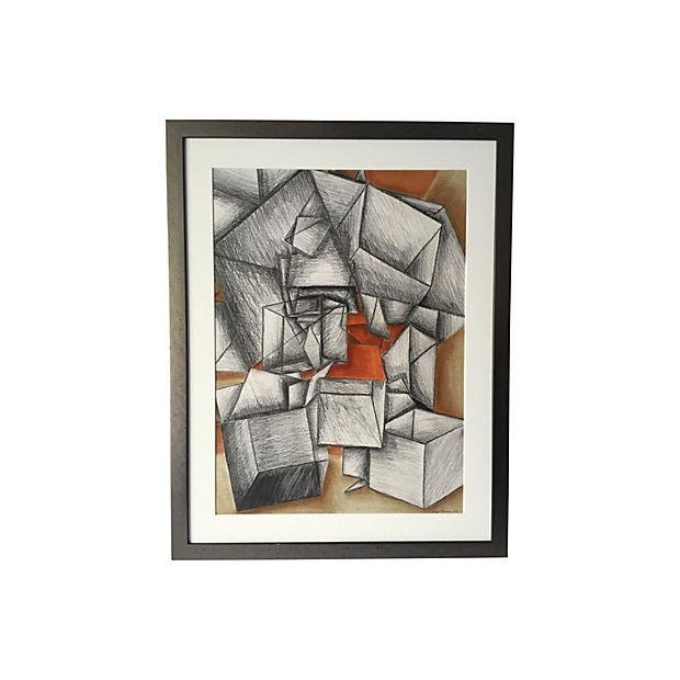 Cowen Modernist Cubist Abstract Drawing - Image 1 of 5