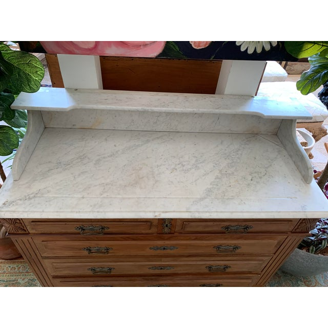 19th Century French Country Marble Top Dresser For Sale In Los Angeles - Image 6 of 12