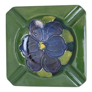 Moorcroft Clematis Floral Ashtray