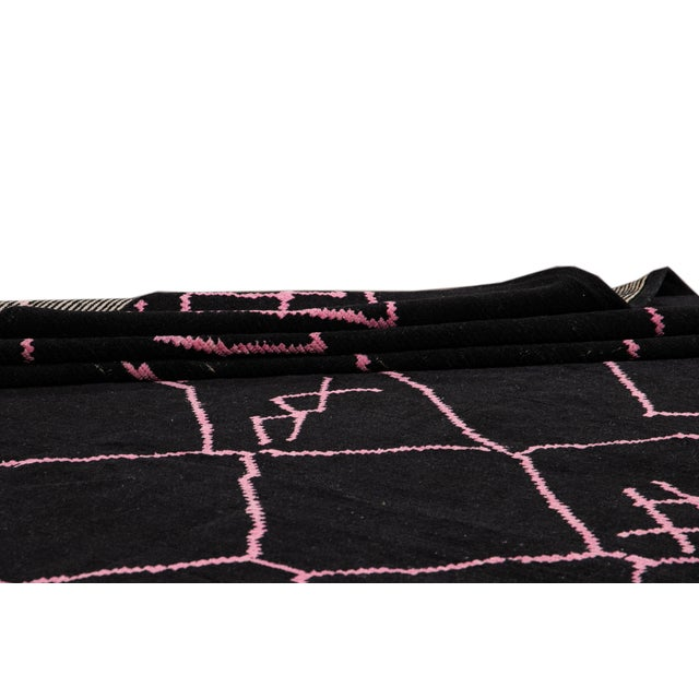 2010s 21st Century Modern Moroccan-Style Wool Rug For Sale - Image 5 of 13