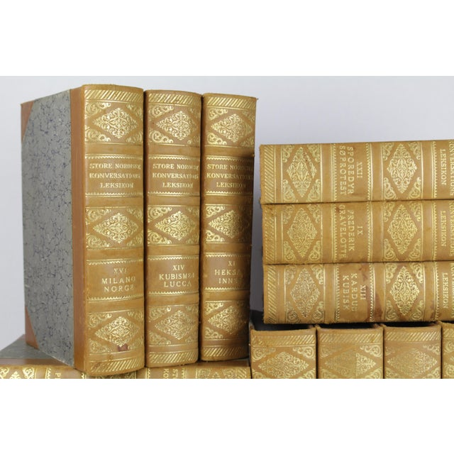 Art Deco Leather-Bound Books - Set of 15 - Image 3 of 3