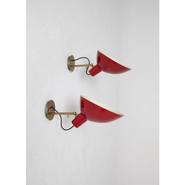 Mid 20th Century Pair of Visor Wall Sconces or Lamps Designed by Vittoriano Vigano, Italy For Sale - Image 5 of 5