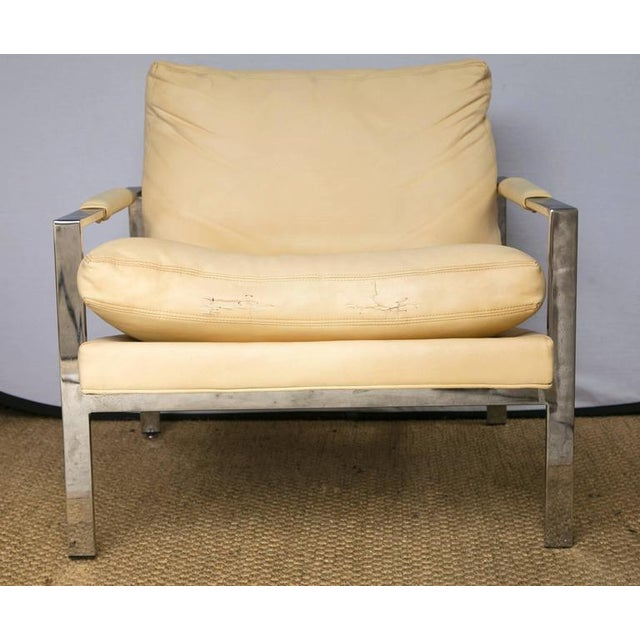 Milo Baughman for Thayer Coggin Club Chairs, Pair - Image 7 of 10