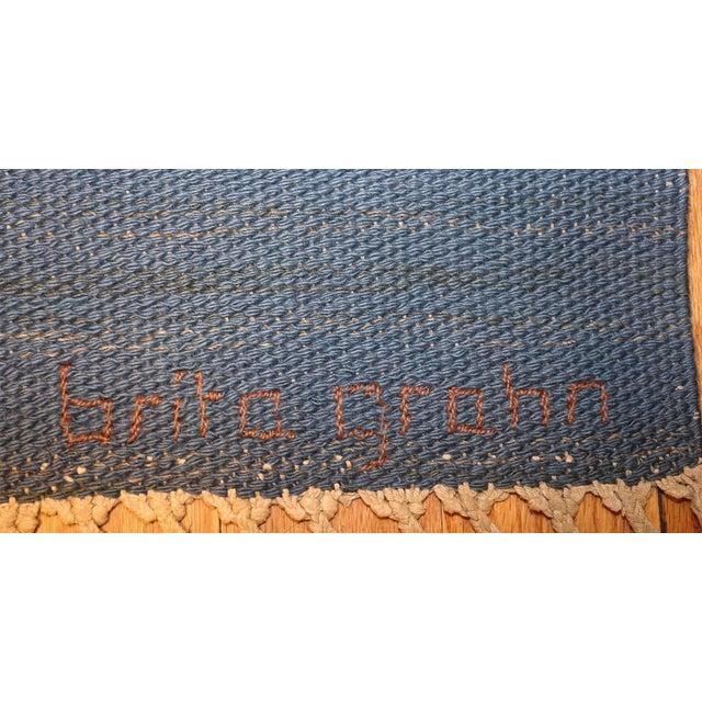 Mid 20th Century Vintage Swedish Kilim Rug by Brita Grahn For Sale - Image 5 of 7