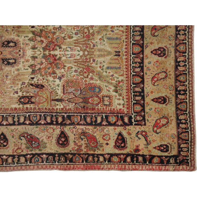 "Islamic Antique Persian Tabriz Rug - 7'3"" X 10'9"" For Sale - Image 3 of 4"