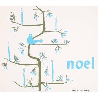 "Carol Cunningham ""Noel"" Christmas Serigraph, Circa 1960s For Sale"