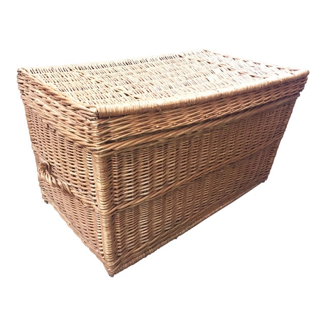 French Wicker Trunk For Sale