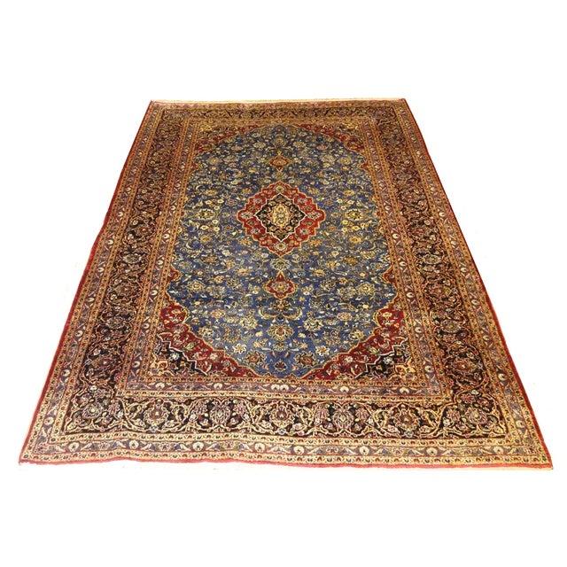 "Persian Silk Kashan Rug - 5' x 7'7"" - Image 1 of 7"