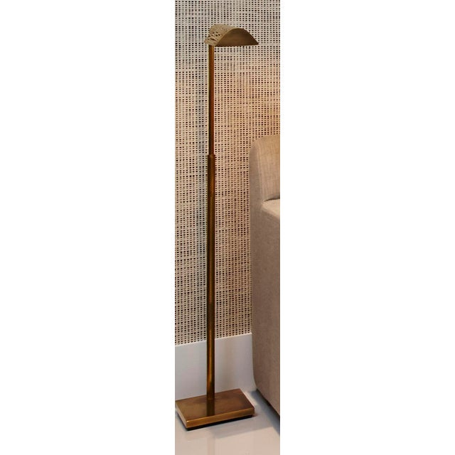 Visual Comfort Antique Brass Reading Floor Lamp - Image 2 of 3